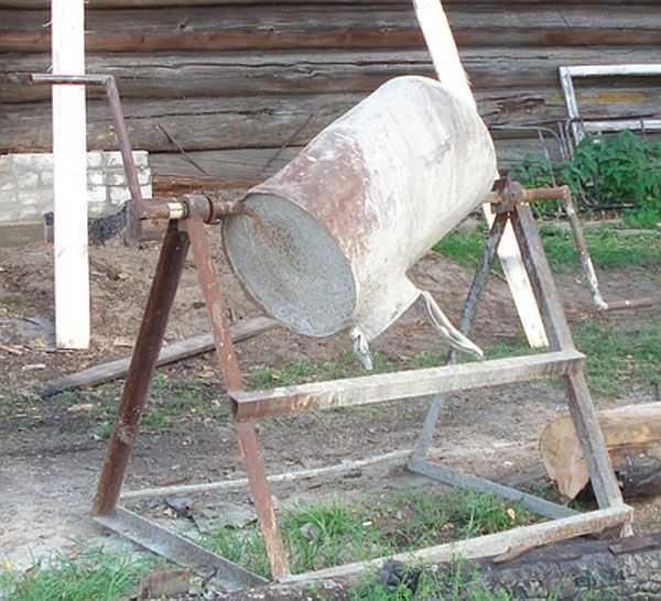 бетономешалка механическая ручная