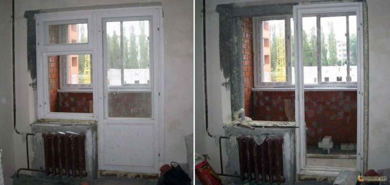 установка французского окна вместо балконного блока