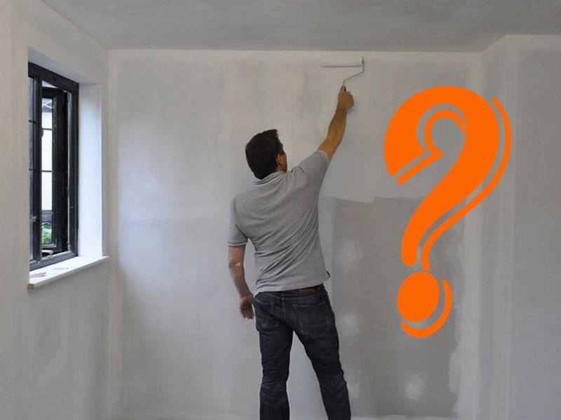 покраска гипсокартонных стен