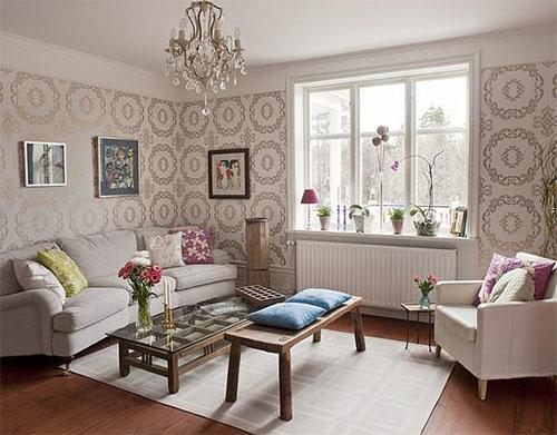 Декор в гостиной: выбираем настенное покрытие