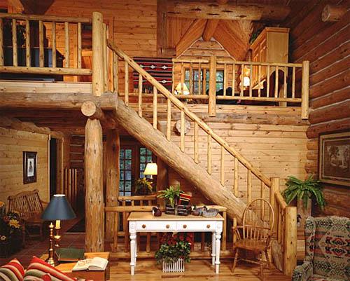 Выбираем интерьер деревянного дома
