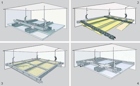 Двухуровневый потолок из гипсокартона своими руками (видео, инструкция с фото)