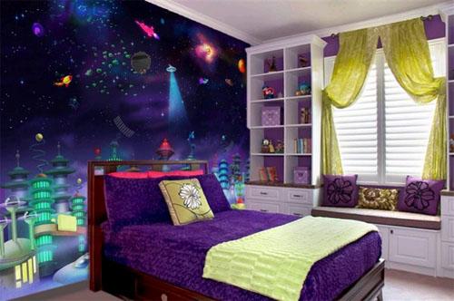 Детская комната маленького космонавта
