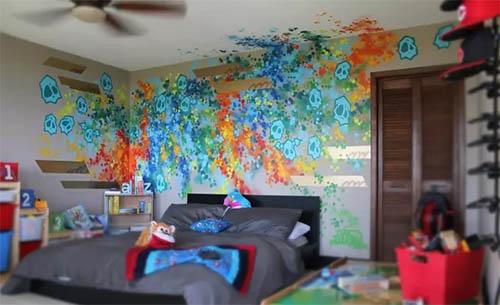 Красочные граффити в интерьере: идеи и решения