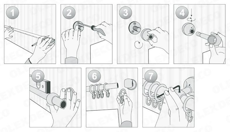 Как повесить карниз на стену: этапы работы, необходимые инструменты