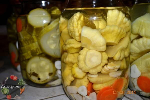 Патиссоны на зиму  рецепты лучшие и оригинальные, маринованные, без стерилизации, вкусные