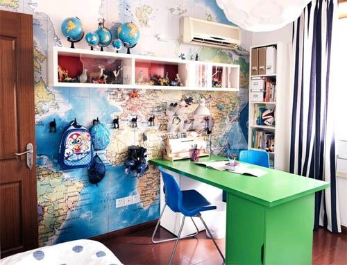 Географические карты мира в интерьере: просто, стильно и необычно