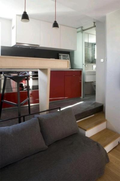 Интерьер квартиры, площадью 16 кв.м