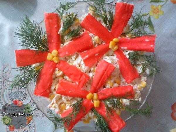 Салат из крабовых палочек  рецепт самый вкусный, быстрый и простой, натуральный