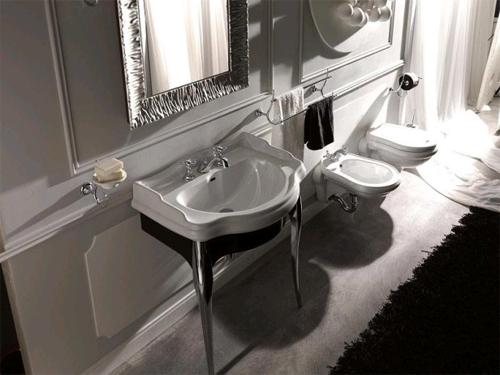 Ванная комнат в стиле ретро: интересные приемы