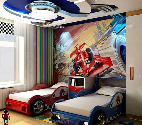 Автомобильная тематика в интерьере: от детской до делового кабинета