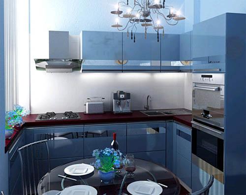 Интерьер кухни 9 кв. метров