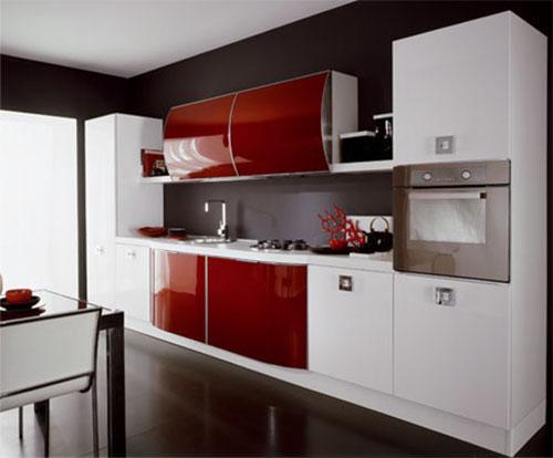 Итальянские элитные красные кухни