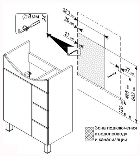 Как изготовить тумбу под раковину?