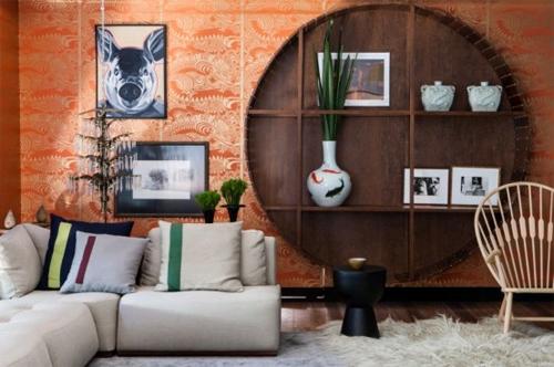 Красочный дом в стиле фьюжн