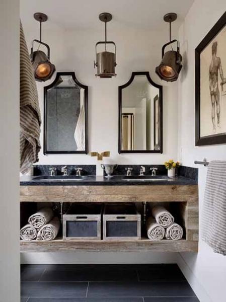 Идеи декора мужской ванной комнаты