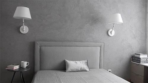 Идея для спальни: минимализм с оттенком романтики