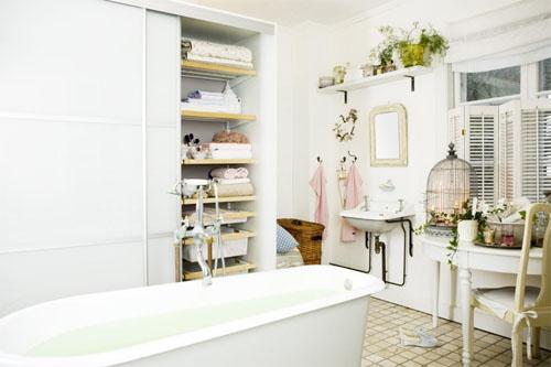 Английский стиль в интерьере ванной комнаты