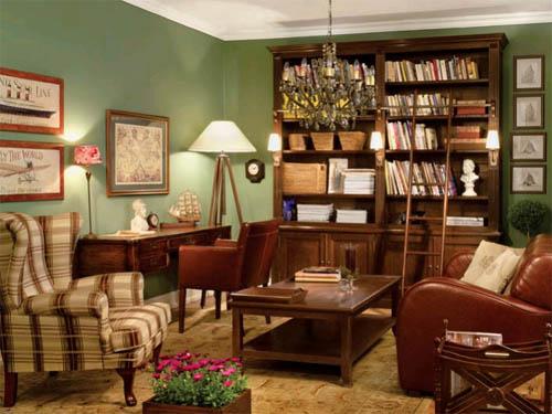 Интерьер и мебель для домашней библиотеки