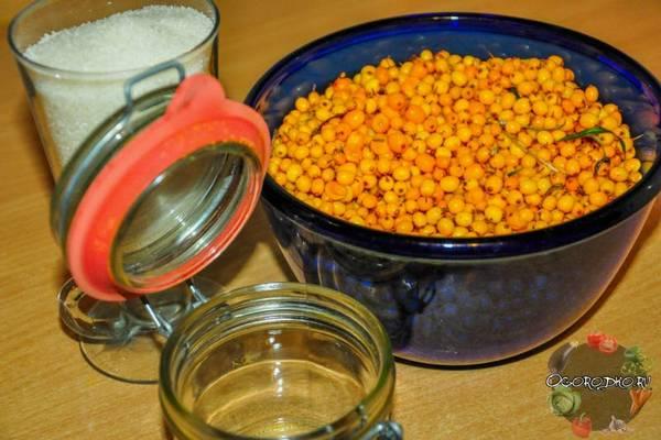 Облепиха с сахаром  быстрый и простой способ заготовки на зиму